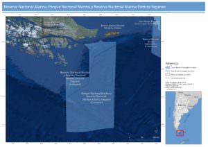 Area recommended for the creation of Yaganes Marine National Park