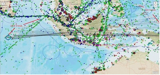 Two Vessels using the same MMSI. Credit: ShipView