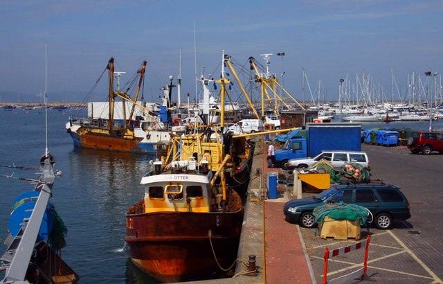 Fishing trawlers at Brixham