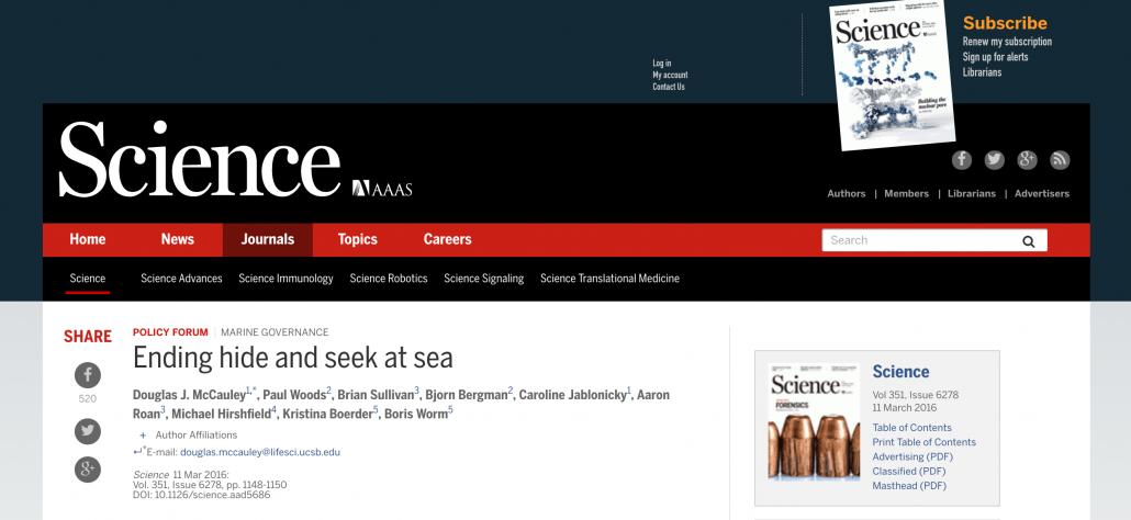 Ending hide and seek at sea