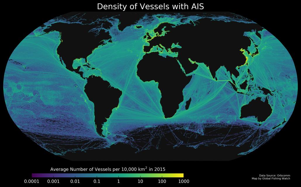 vessel density global map