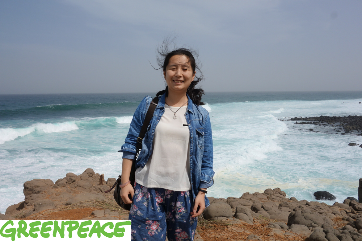Wei Zhou, ocean campaigner at Greenpeace East Asia's Beijing office