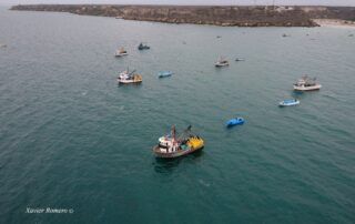 Fishing vessels in coastal Ecuador