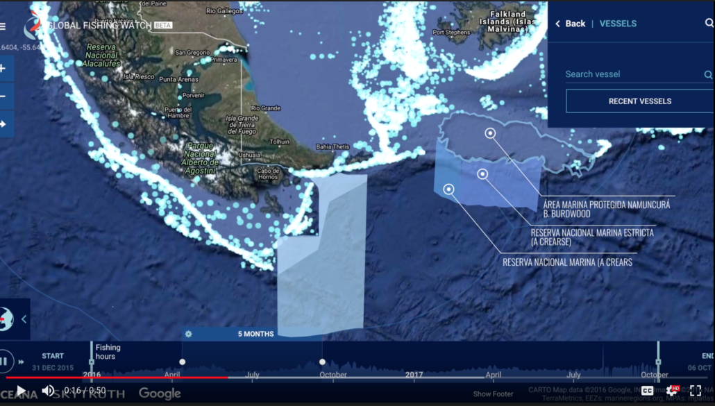 Argentine Map Areas marinas
