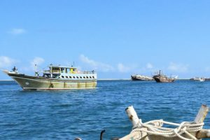 Iranian gillnet fishing vessel in Berbera harbour in 2015