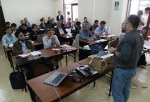Paul Woods leads a VMS data workshop in Peru