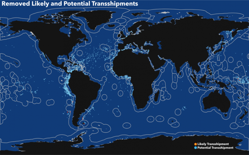 transshipment behavior that we removed from the previous version of the dataset