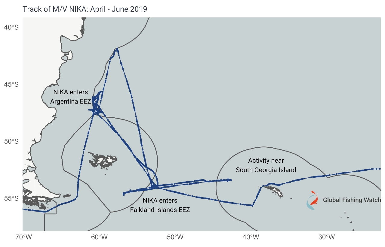 The capture of the MV NIKA: a case of illicit fishing and a showcase