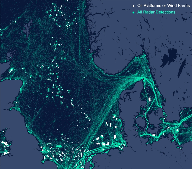 Oil platforms or wind farms Radar Detections