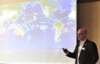 Tony Long presenting at the Ocean Risk Summit